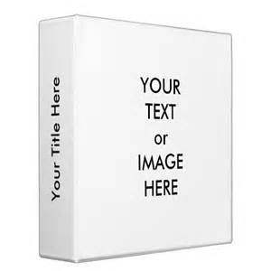 Create your own 2 quot binder template white zazzle