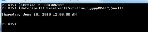format date shell powershell converting string to date time format