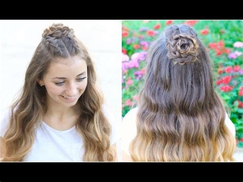cute hairstyles brooklyn and bailey half up rosette combo homecoming hairstyles makeup videos