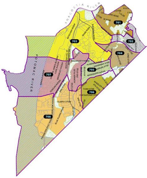 washington dc precinct map welcome to the seventh district mpdc