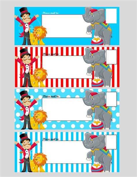 carnival ticket template printable digital file circus ticket envelope by
