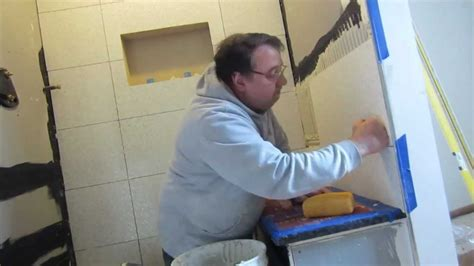 tools for tiling a bathroom how to install large format tile in a shower time lapse