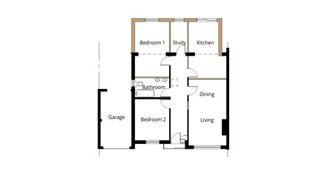 extension floor plans semi detached bungalow extension ideas joy studio design