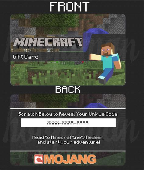 Where Can You Buy A Minecraft Gift Card - minecraft gift card concept rebrn com