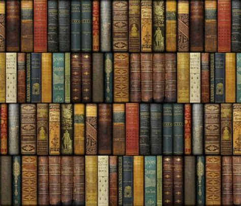 books wallpaper monsieur fancypantaloons instant library fabric by