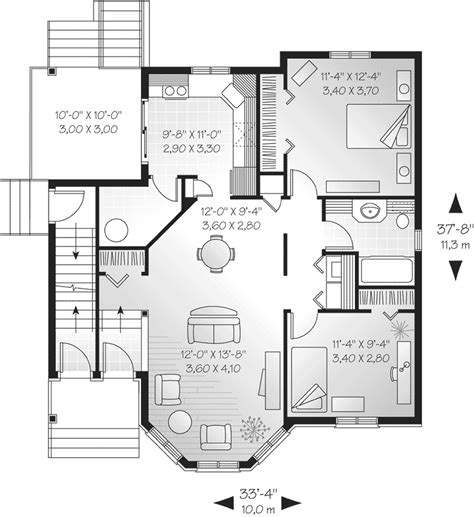 mulhall multi family triplex plan 032d 0379 house plans