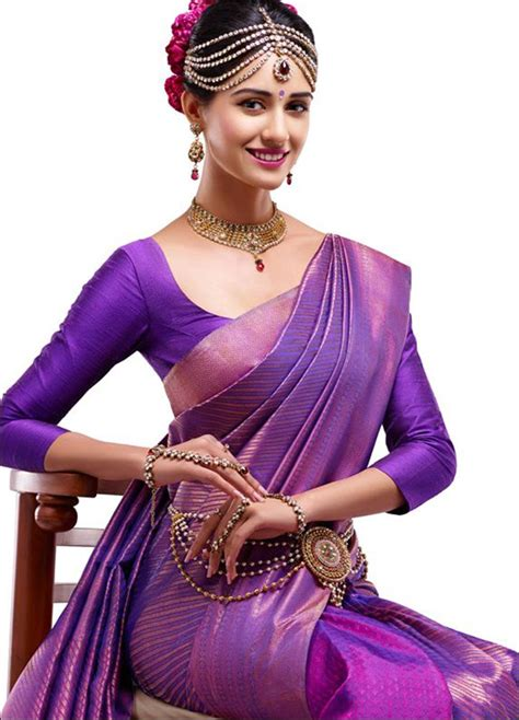 Loe Style Blouse Purple pattu blouse designs for silk sarees top 21 designer
