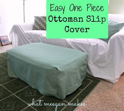how to make ottoman cover easy one piece ottoman slip cover