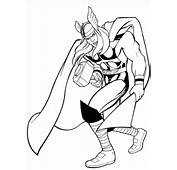Marvel Thor Coloring Page  Free Printable Pages