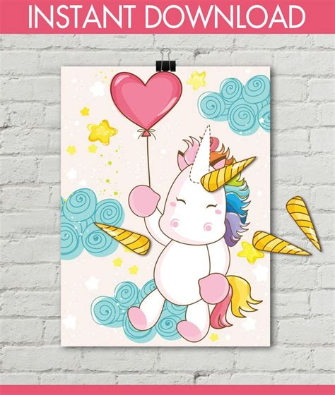 printable unicorn party games the 25 best pin the horn on the unicorn ideas on