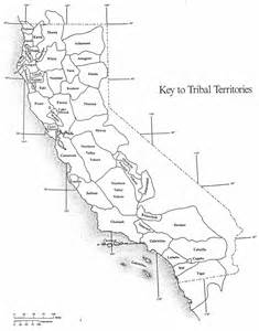 california indians map golden state