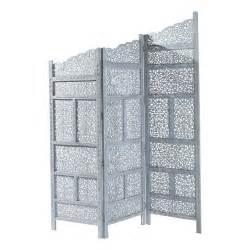 Folding Screen Room Divider by Rajasthan Wooden Folding Screen In Grey W 152cm Maisons