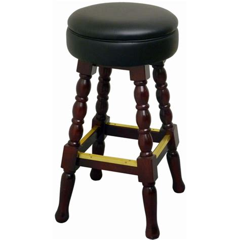 Classic Bar Stool by Classic Backless Wood Bar Stool
