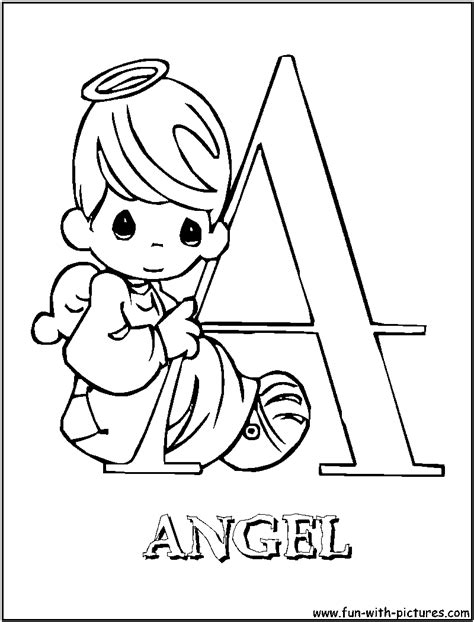 angel coloring pages for preschool a for angel precious moments alphabet coloring pages