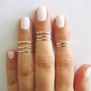 8 above the knuckle rings silver stacking ring knuckle