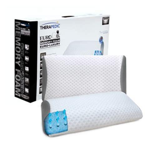 therapedic 174 cooling gel and memory foam pillow therapedic international eurogel luxury bed pillow