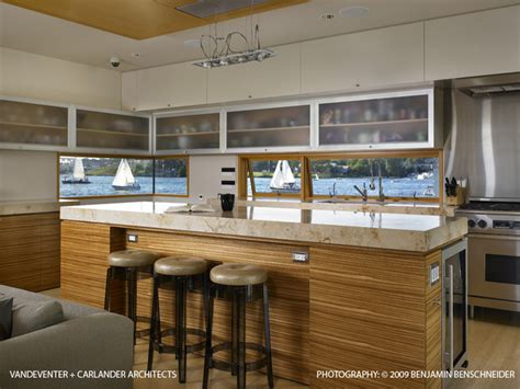 floating kitchen island houzz lake union floating home kitchen island modern kitchen