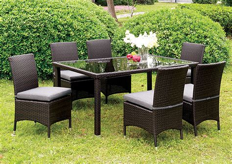 patio furniture danbury ct ideal furniture danbury comidore espresso wicker glass top patio dining table w 4 gray side chairs