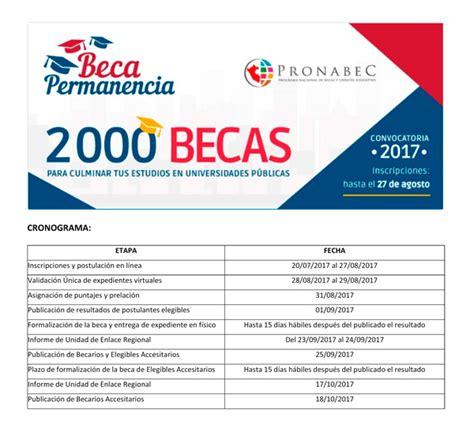 convocatoria docente universidad 2016 peru becas 2017 beca permanencia convocatoria 2017