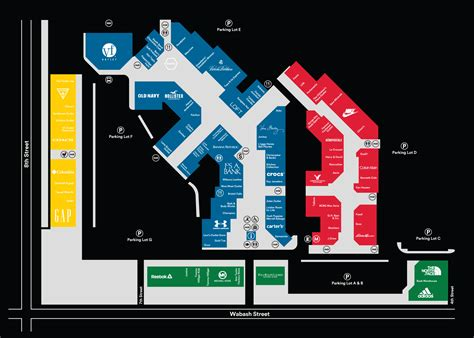 outlet mall map complete list of stores located at lighthouse place