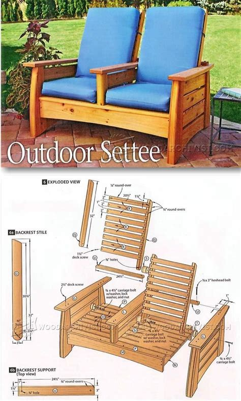 wood patio furniture plans 25 best outdoor furniture plans ideas on