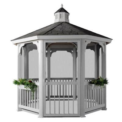 homeplace structures 12 ft octagon vinyl gazebo with