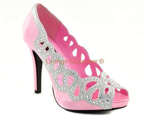 pinup womens baby pink satin rhinestone prom