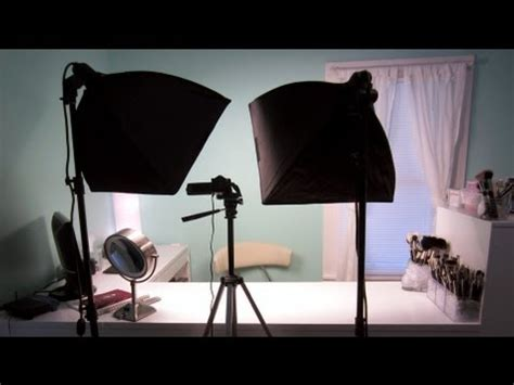 youtube film setup behind the scenes tour my makeup filming and editing