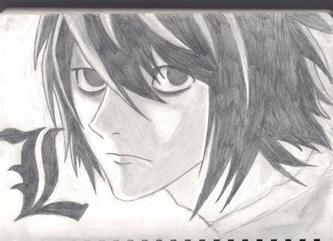 L Drawing Note by L Lawliet Note By Thatnintendogeek D59 By