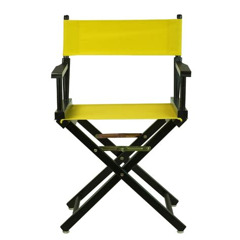 yellow directors chair 18 quot director s chair black frame yellow canvas