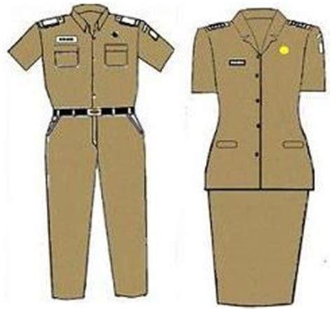 Seragam Pns Coklat gambar seragam pns baru berdasarkan permendagri no 68