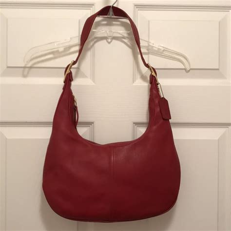 Designer Purse Deal Cannage Hobo Bag by Coach Legacy West Zoe Smooth Leather Vintage 9591 Shoulder