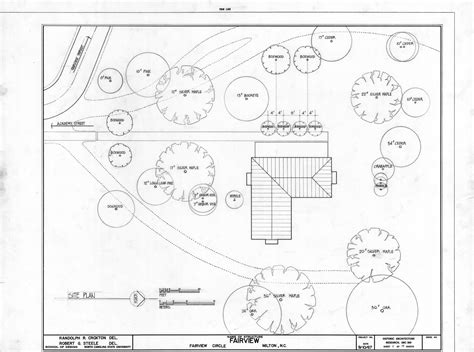 site plan asa thomas house milton north carolina asa