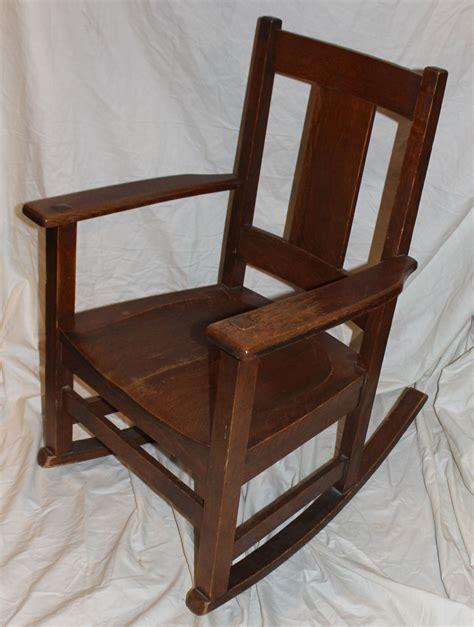 Bargain john s antiques 187 blog archive mission oak rocking chair original finish limbert