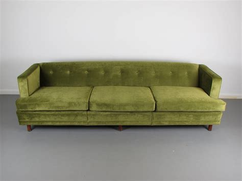 1960s style sofa striking velvet tuxedo sofa in the style of edward wormley