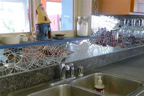 mirror mosaic backsplash over sink jk mosaic
