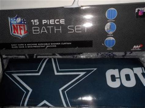 dallas cowboy bathroom set nfl dallas cowboys 15 piece bath set shower curtain