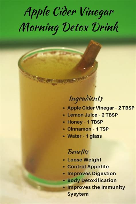 Morning Detox Tea Apple Cider Vinegar best 25 colon cleanse recipes ideas on colon