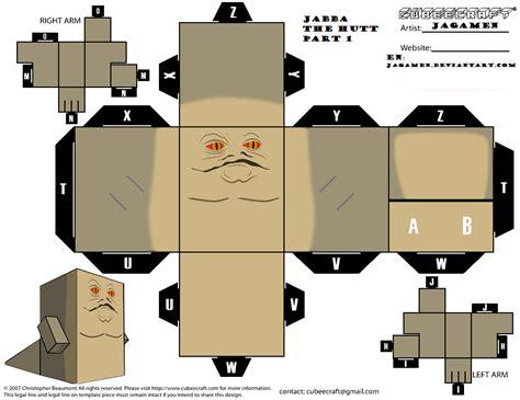 Wars Paper Craft - jabba the hatt part 1 cubeecraft by jagamen deviantart