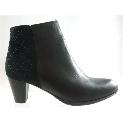 ara toulouse 12 43459 black leather and suede ankle boot