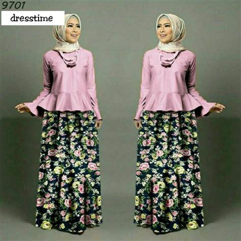 Baju Wanita Blouse Tunik Elios Muslim Remaja Modis Lucu Trendi Keren 30 koleksi setelan rok dan atasan yang keren duabatik