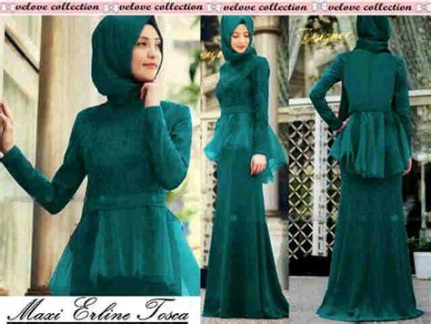 Pakaian Baju Wanita Busana Dress Brukat Poppy Tosca Murah 1 busana maxi dress set muslim modern terbaru murah