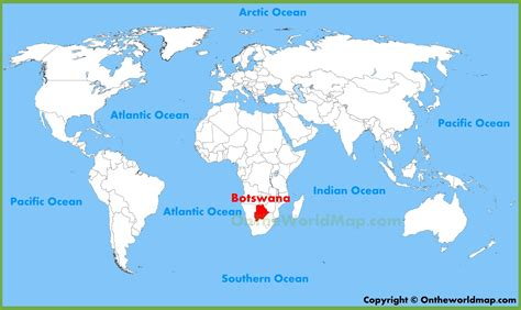 location of america in world map botswana location on the world map