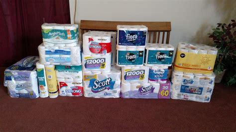 924 rolls of toilet paper collected for fish food pantry