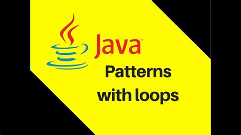java tutorial video lectures 5 9 java tutorial part 10 1 patterns with loops lecture