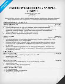 secretarial resume template sle resumecv for apps directories