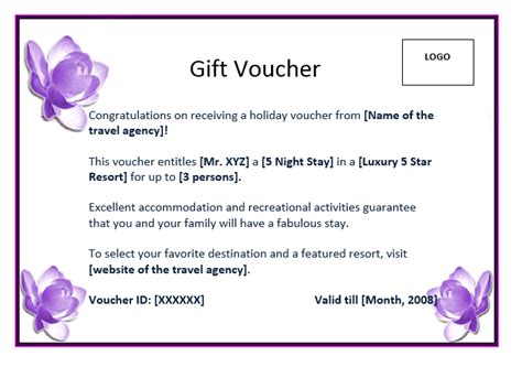 perfect format sles of gift voucher and certificate