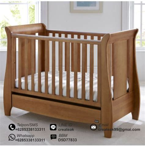 Keranjang Bayi Dari Kayu ranjang bayi minimalis moris createak furniture createak furniture