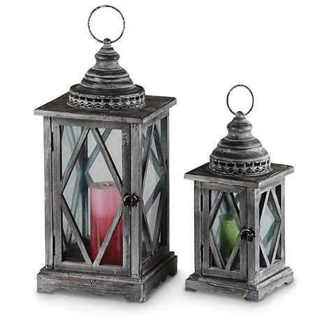 2 pc lillian decorative lantern set 232093 decorative