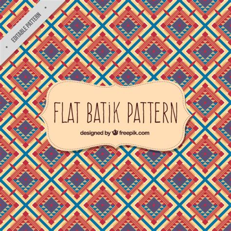 batik pattern vector ai batik pattern in flat design vector free download